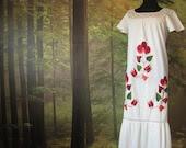 Vintage Embroidered GYPSY Bohemian maxi wedding dress