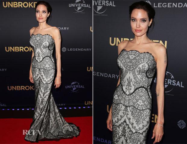 Angelina Jolie In Gucci Première - 'Unbroken' Sydney Premiere