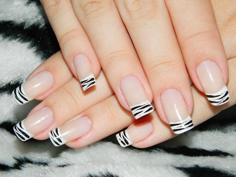 Juliana Leite nail art unha decorada francesinha com zebra 11