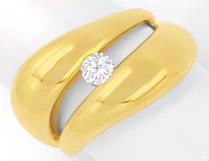 Original-Foto 1, SUPER-DESIGN BRILLANTRING GELBGOLD, 0,25ct RIVER LUXUS!