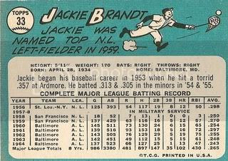 #33 Jackie Brandt (back)