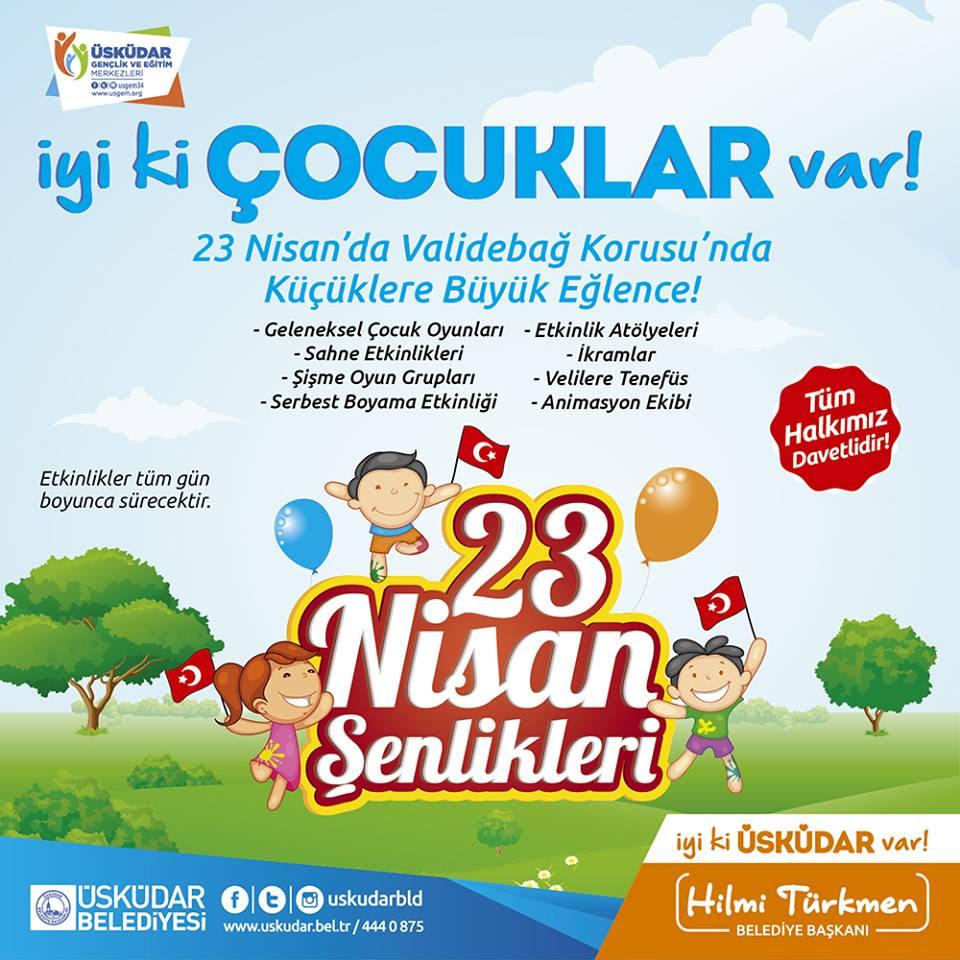üsküdar 23 Nisan şenlikleri Etkinlik Istanbul