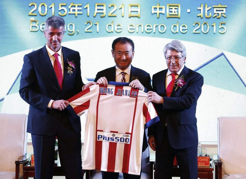 Un magnate chino compra el 20% del Atlético
