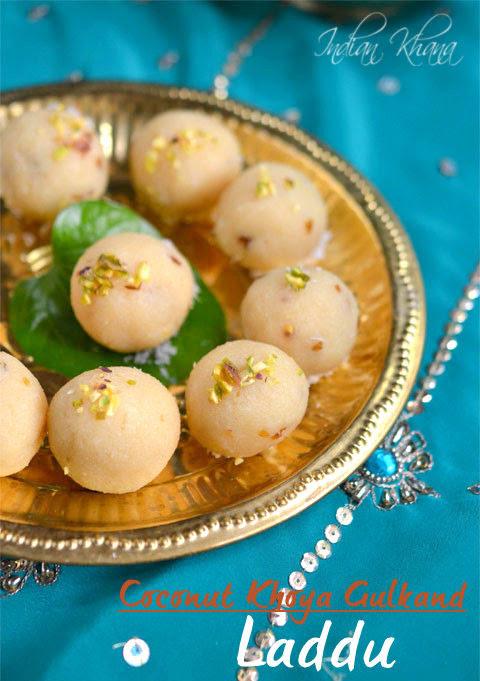 Coconut-Khoya-Gulkand-Ladoo-Diwali-Sweets-Recipes