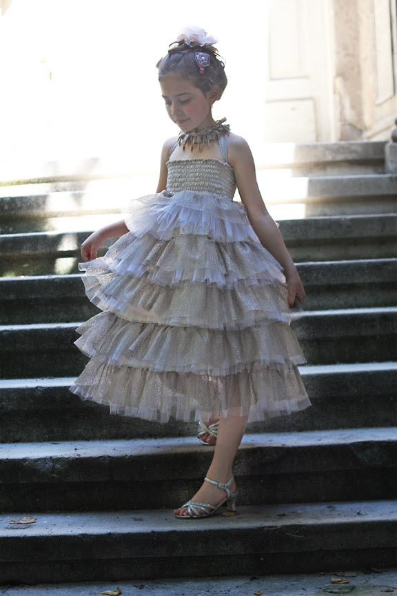 Cascade tulle skirt/dress