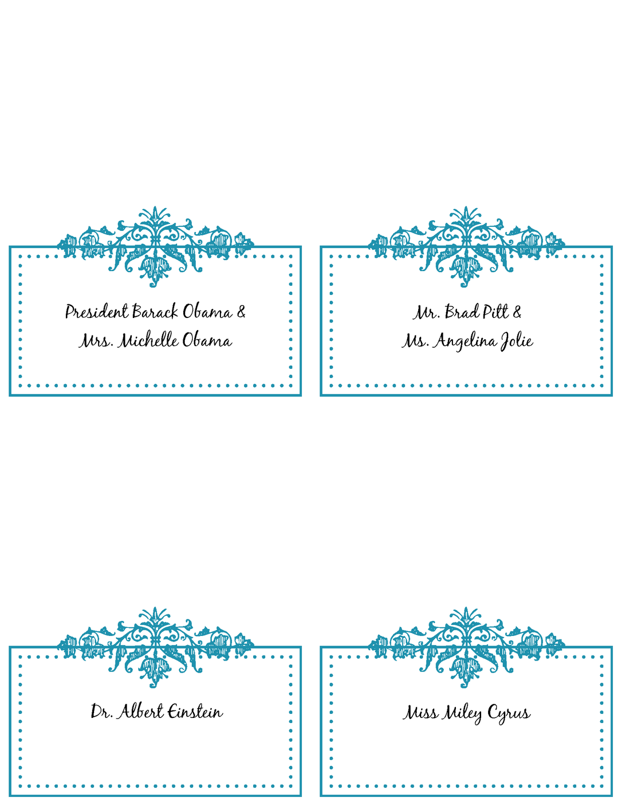Wedding Idea S Wedding Table Place Cards Template Free