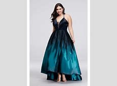 Strappy Satin Ombre High Low Plus Size Ball Gown   David's Bridal