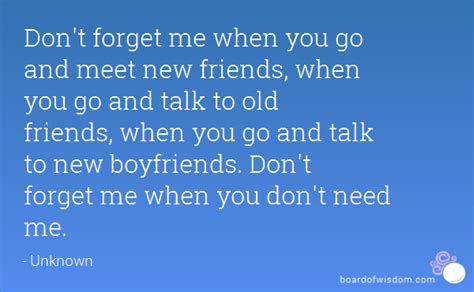 Dont Forget Me Quotes For Friends