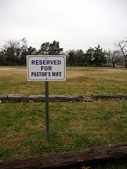 RESERVED FOR PASTOR'S WIFE