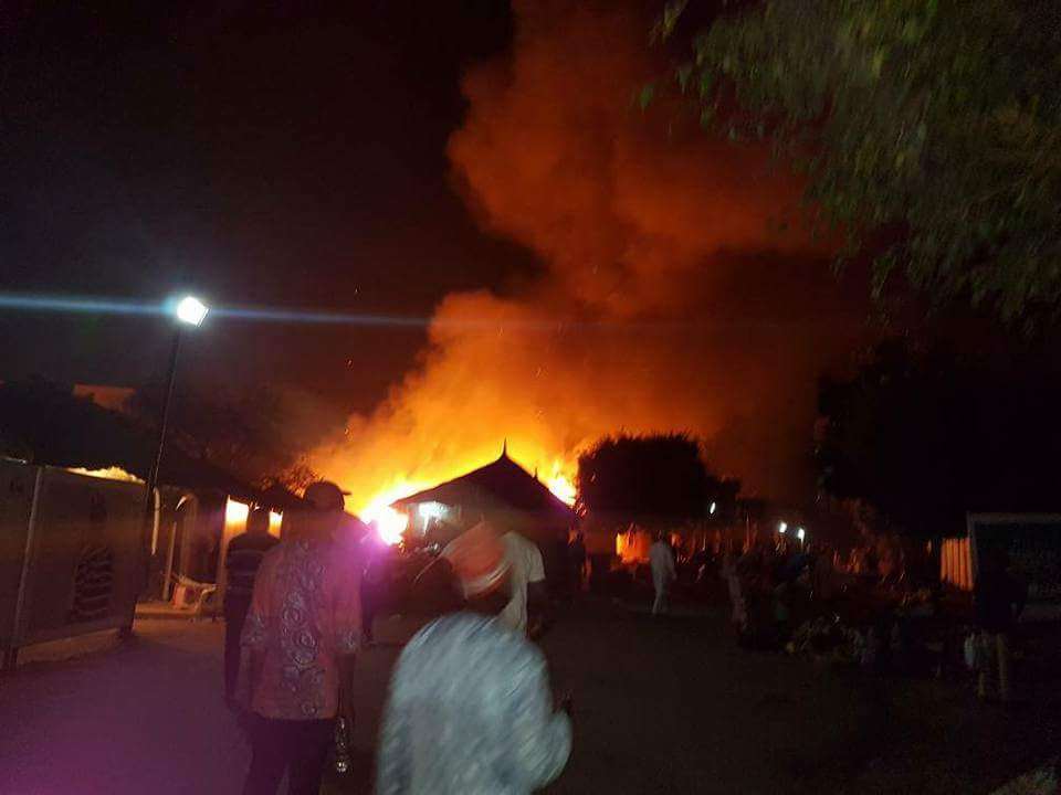 Fire Out Break At National Art And Culture, Abuja (Photos)