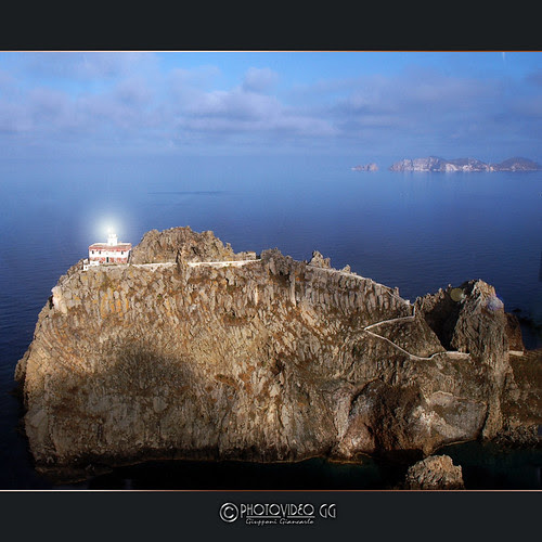 Ponza Island Lighthouse - Italy - Aerial Photo