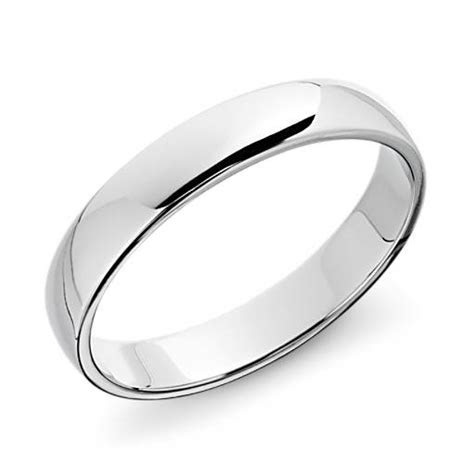 Classic Wedding Ring in Platinum (4mm)   Blue Nile