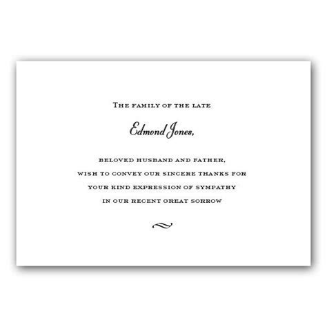 Flat Card White Sympathy Acknowledgements   PaperStyle