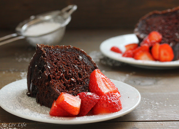 Chocolate Strawberry Pound Cake