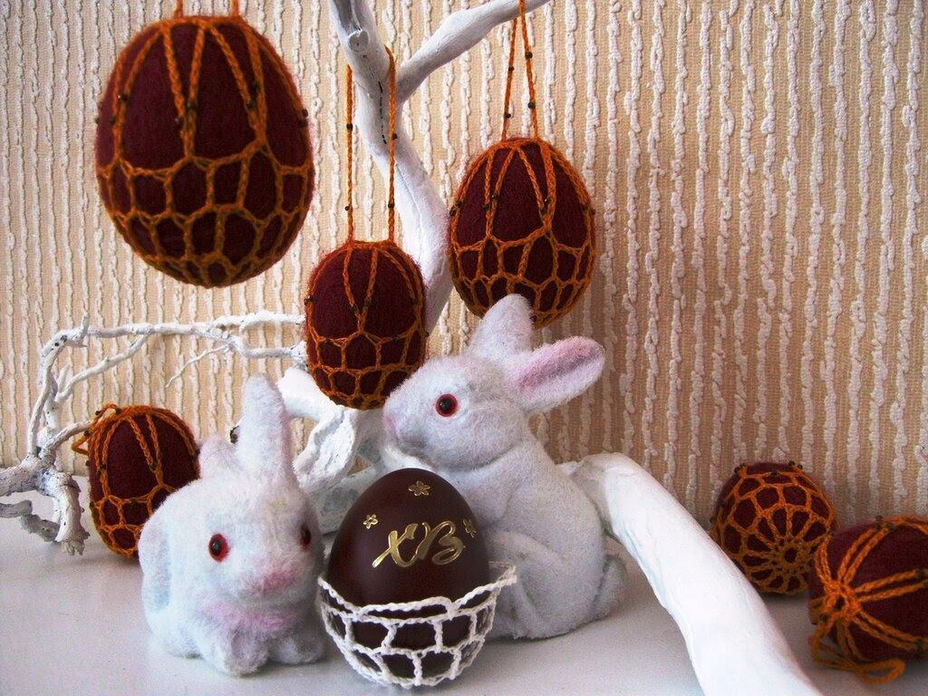 Пасхальные яйца-погремушки 2