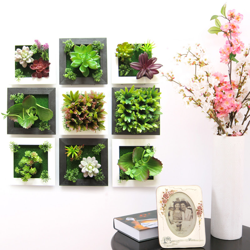 3D Plant  Wall  Sticker Home Decor  Wall  Artificial  Flowers