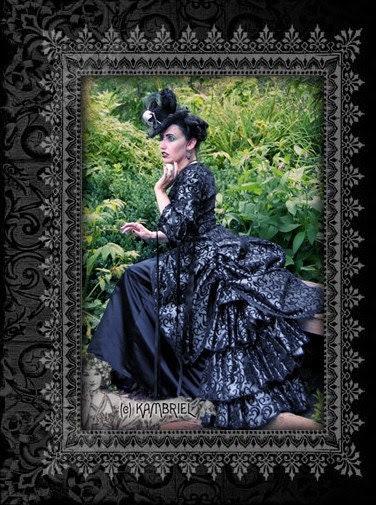Shadow Filigree Bustle Skirt - by Kambriel