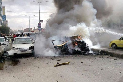 A rocket attack by rebels in Syria on Feb. 27, 2014 took place in Homs killing at least six people. by Pan-African News Wire File Photos