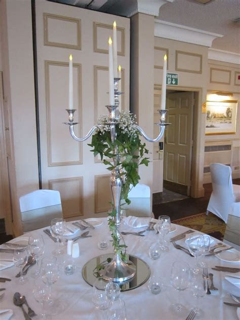 Candelabra with ivy and gyp   Wedding Ideas in 2019