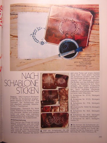 1978 Craft Book Article on Copper Monogram Stencils