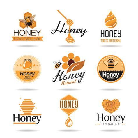 creative honey logos desing vector  pinteres
