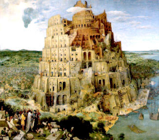 Pieter Brueghel's painting of the Tower of Babel