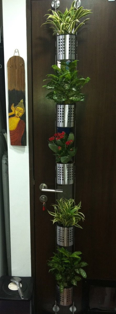 Vertical garden for small plants or herbs - IKEA Hackers ...