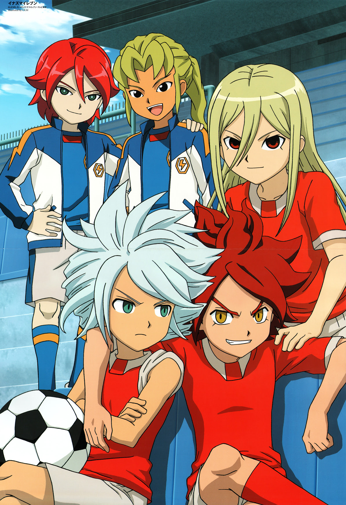 Hiroto With His Friends Kiyama Hiroto Xavier Foster Wallpaper