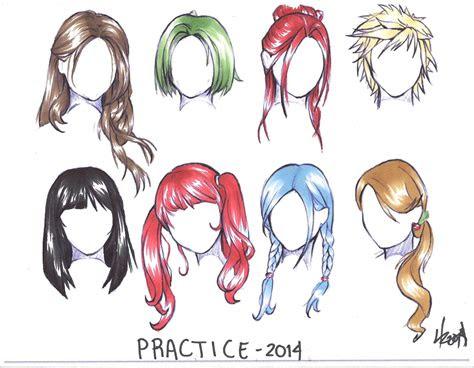 anime hair coloring practice   draw manga