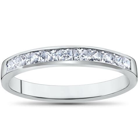 Princess Cut 1/2ct Diamond Wedding Anniversary 14K White