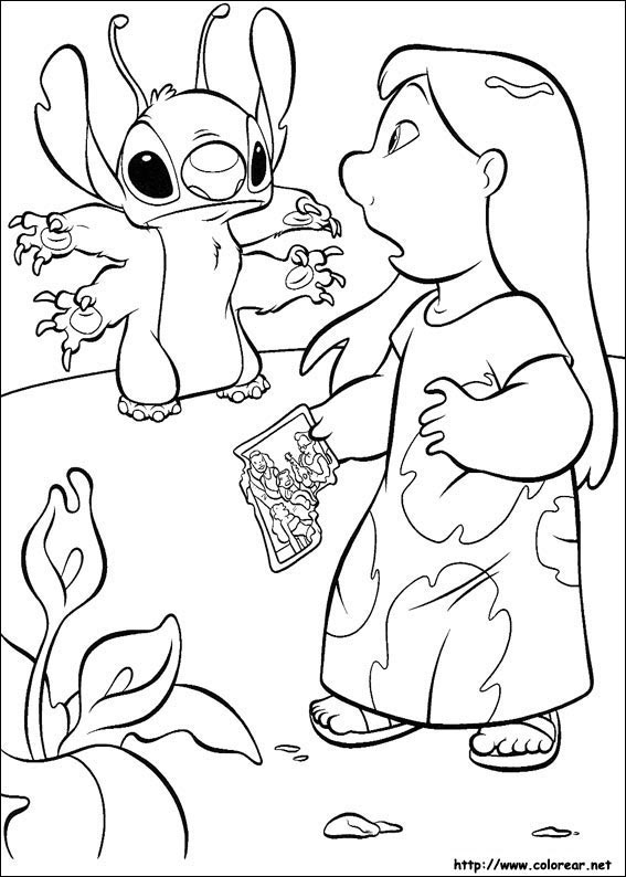 Dibujos Para Colorear De Lilo Y Stitch