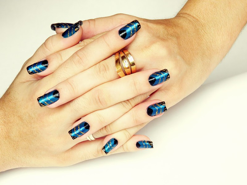 nail art juliana leite de unhas feitas azulcrination decoradas 014