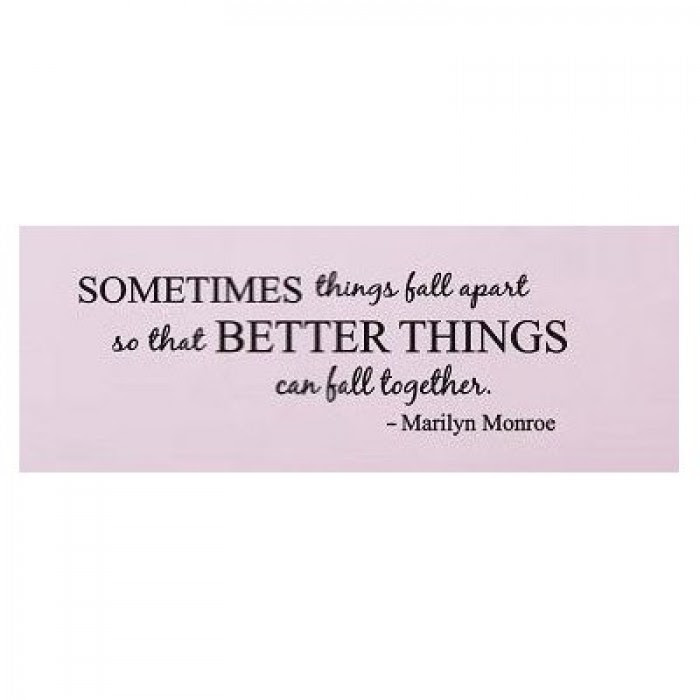 Sometimes Things Fall Apart Marilyn Monroe Quote Wall Decal Wall