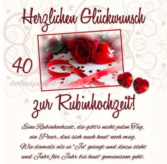40 Hochzeitstag Witzige Sprüche Zur Rubinhochzeit / 40