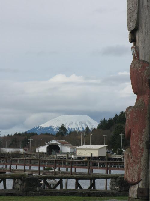 Mount Edgecumbe from Totem Square, Sitka, Alaska