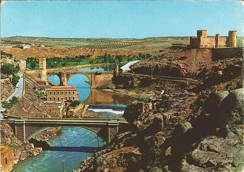 Acueducto romano, Puente nuevo de Alcántara, Puente viejo de Alcántara y Castillo de San Servando, años 60