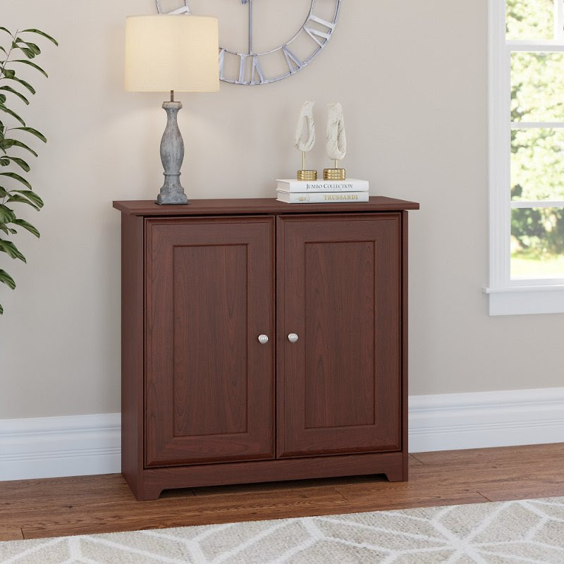 Harvest Cherry Small Storage Cabinet With Doors Cabot Rc Willey