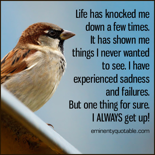 Life Has Knocked Me Down A Few Times ø Eminently Quotable Quotes