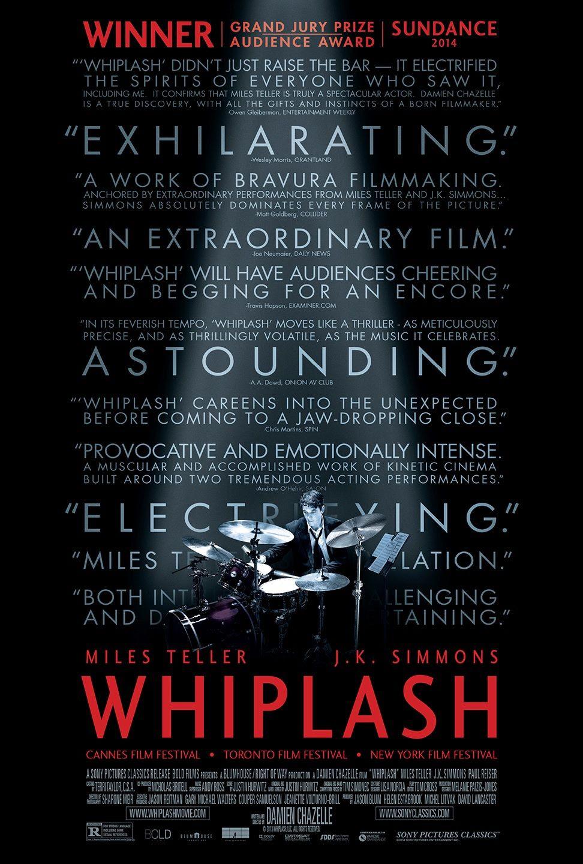 Whiplash - Movie Poster - Top 10 Films 2015