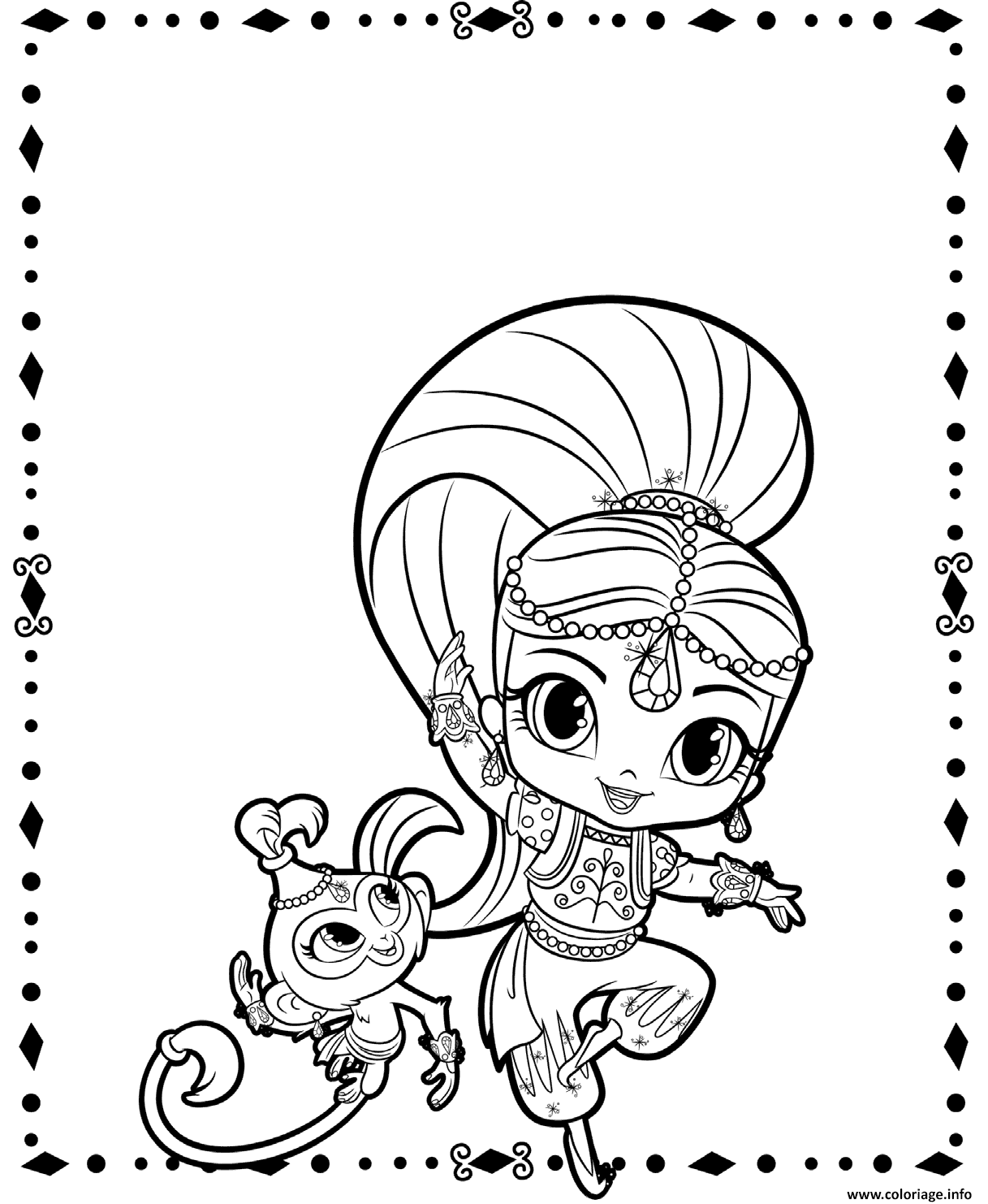 Coloriage Shimmer And Pet Shimmer Et Shine Dessin   Imprimer