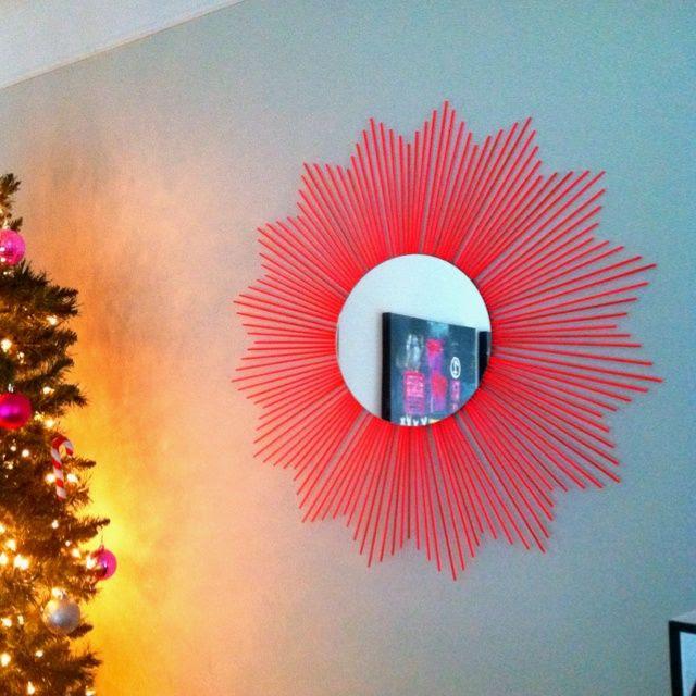diy starburst mirror | diy starburst mirror using skewers. | DIY