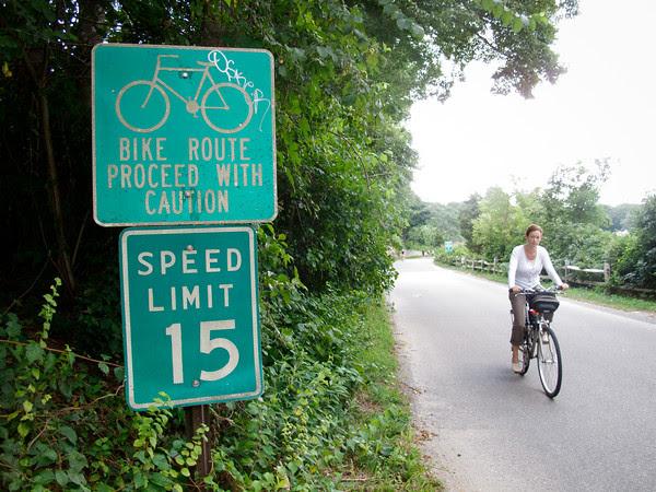 Edgartown, upper main street, bicycles, safety, bike lanes