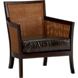 Blake Lounge Chair with Leather Cushion