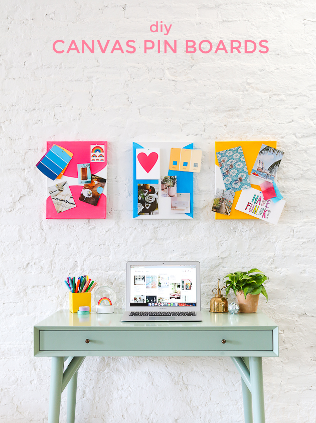 Diy Colorful Canvas Pin Boards The Crafted Life