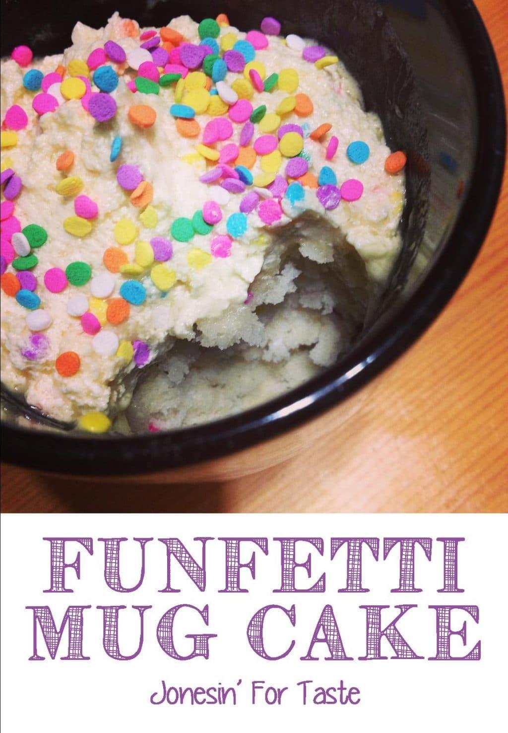 Funfetti Cake In A Mug