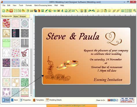 Wedding card maker software design invitation cards