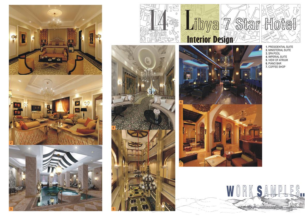 7 star hotel in Libya – Commercial Interior design. | Jignesh
