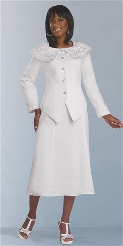 Lisa Rene 3278W Womens White Church Suit: French Novelty