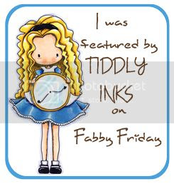My teapot card was featured on Fabby Friday Jan 2013