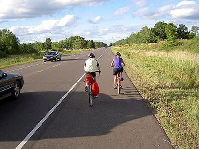 Kids on Highway 361 north of Pine City